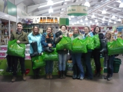 The new S4F trainees after our shopping trip! (I'm the tiny one on the right) Photo by Steve Davis
