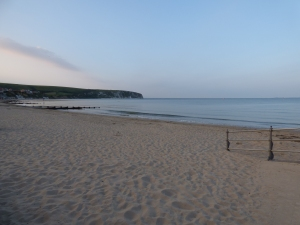 Swanage beach - empty at dusk!