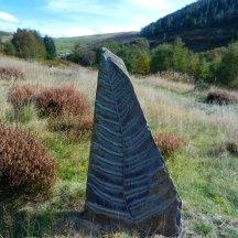 Sculpture at Pont Marteg