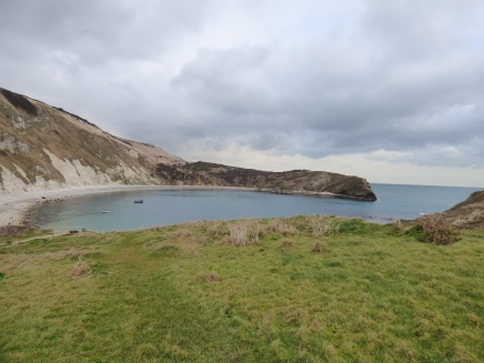 Lulworth Cove - blue despite the grey clouds