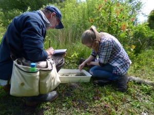Phil Ward and I examining lake invertebrates