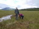 Beth finds a hole in the bog to fall into