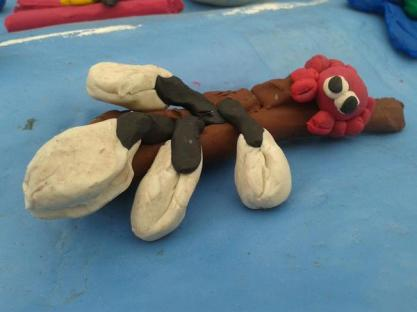 driftwood with Goose Barnacles and a Columbus Crab - based on a real story from last year's storms!