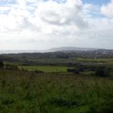 Looking across Weymouth & Portland from Lorton Meadows