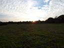 Sun setting at Lorton