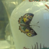 Butterfly on the side of a vase