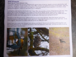Wild Wimpole piece in The Herald