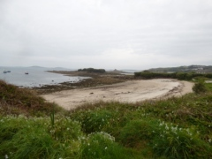 One of the beaches on St Mary's